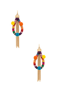 Dahl multi pom pom earrings - Ettika
