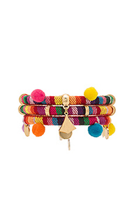 Dahl multi pom pom bracelet - Ettika