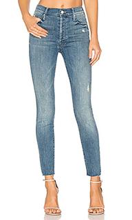 Узкие джинсы с потрепанным низом the stunner - MOTHER