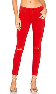Узкие джинсы с потрепанным низом the looker blow by blow - MOTHER