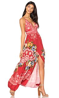Макси платье с глубоким v-образным вырезом - FARM