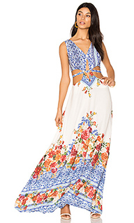 Макси-платье с вырезом - FARM