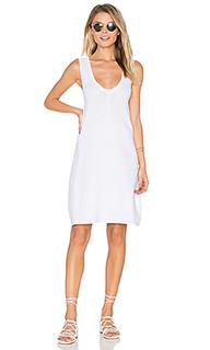 Платье-футболка с v-образным вырезом - LEO & SAGE