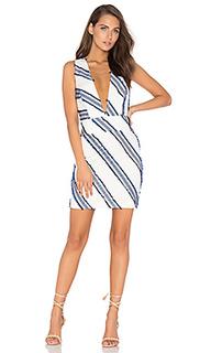 Платье с перекрестными шлейками сзади - MILLY