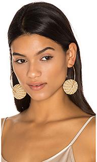 Candongas raffia earrings - Mercedes Salazar