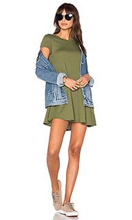 Платье из легковесной джерси с коротким рукавом - Bobi