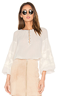 Embroidered tunic top - Maison Scotch