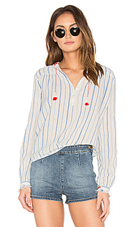 Embroidered woven top - Maison Scotch
