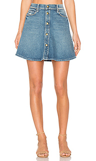 X miranda kerr the snap down mini flare skirt - MOTHER