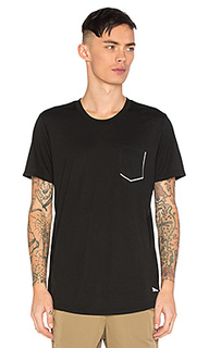 Tech reflective chest pocket tee - Brandblack
