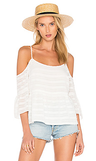 Cold shoulder ruffle sleeve blouse - 1. STATE