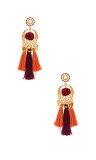 Tassel & pom drama chandelier earrings - Rebecca Minkoff
