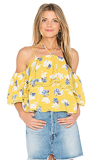 Flower print cold shoulder top - J.O.A.