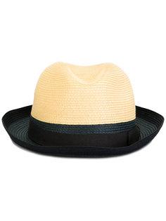 двухцветная шляпа-трилби  Giorgio Armani