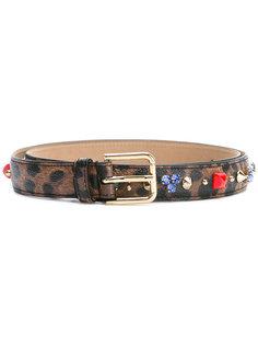 декорированный ремень с леопардовым узором Dolce & Gabbana