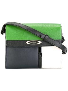 сумка на плечо дизайна колор-блок Lanvin