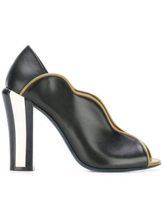 туфли-лодочки с волнистой окантовкой Fendi