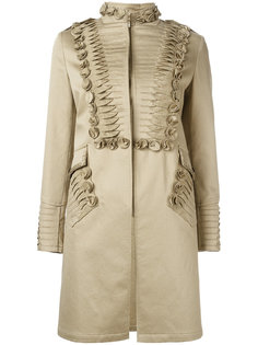 пальто с плиссированными деталями Ermanno Scervino
