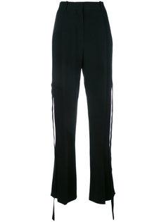 свободные брюки с шелковой панелью Givenchy