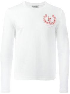 футболка с длинными рукавами и принтом Alexander McQueen