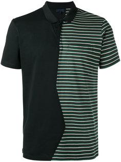 рубашка-поло с контрастной панелью Lanvin