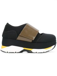 кроссовки с контрастным ремешком Marni