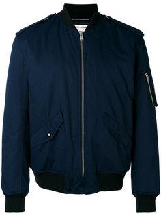 куртка бомбер с эполетами Saint Laurent
