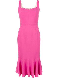 платье миди с баской Dolce & Gabbana