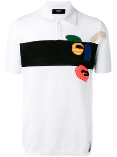 рубашка-поло с принтом Fendi