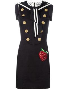 платье с нашивкой в форме клубники Dolce & Gabbana