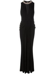 вечернее платье с декорированным воротником Alexander McQueen