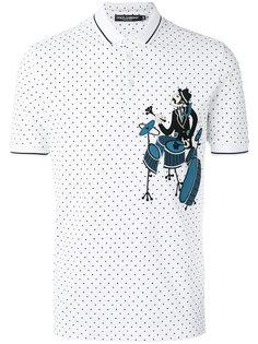 рубашка-поло с нашивкой Dolce & Gabbana
