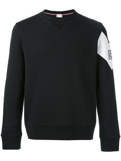contrast diagonal band sweatshirt  Moncler Gamme Bleu