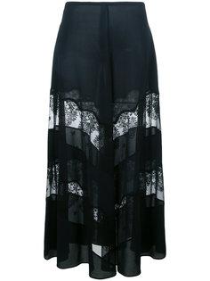 юбка макси с прозрачным кружевом Stella McCartney