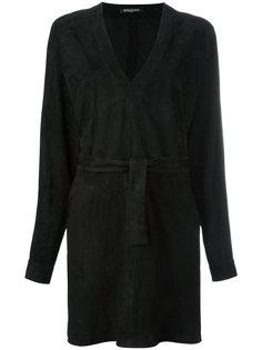 платье мини с V-образным вырезом Balmain