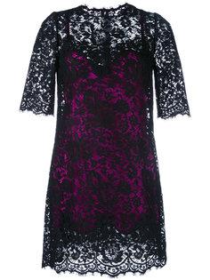 кружевное платье с комбинацией Dolce & Gabbana