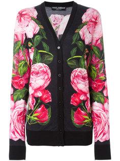кардиган с цветочным узором Dolce & Gabbana