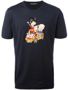 футболка с вышивкой Dolce & Gabbana