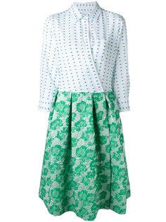 комбинированное платье-рубашка Sara Roka