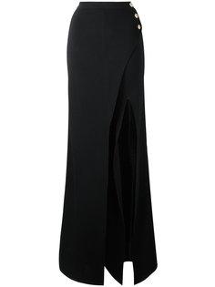 брюки палаццо с эффектом юбки Balmain