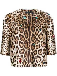 куртка с леопардовым узором Dolce & Gabbana