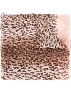 платок с леопардовым узором Salvatore Ferragamo