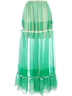 юбка макси со сборками Stella McCartney