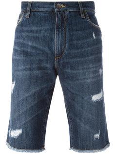 джинсовые шорты с рваными деталями Dolce & Gabbana
