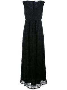 длинное платье с V-образным вырезом Red Valentino