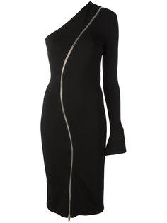асимметричное платье с молнией Givenchy
