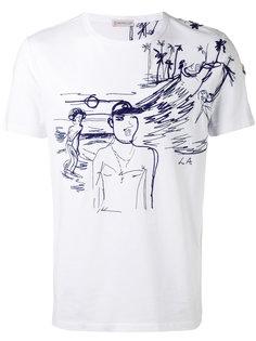 футболка с узорной строчкой Moncler