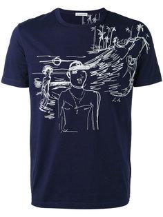 футболка с узорчатой строчкой Moncler