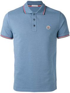 рубашка-поло с окантовкой в полоску Moncler