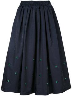 юбка длины миди с люверсами Muveil